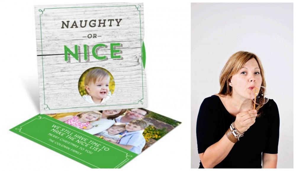 Photo Christmas Cards -- Nice List Spinner