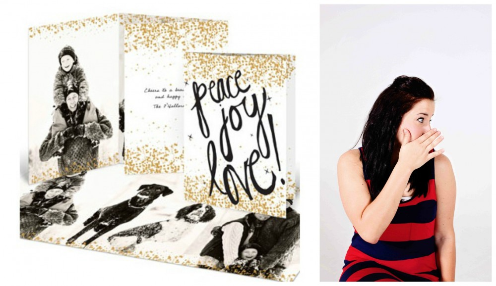 Photo Christmas Cards -- Sprinkled With Gold