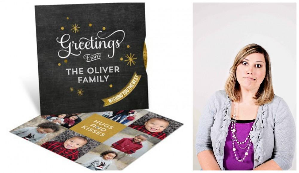 Photo Christmas Cards -- Glitter Stars Spinner