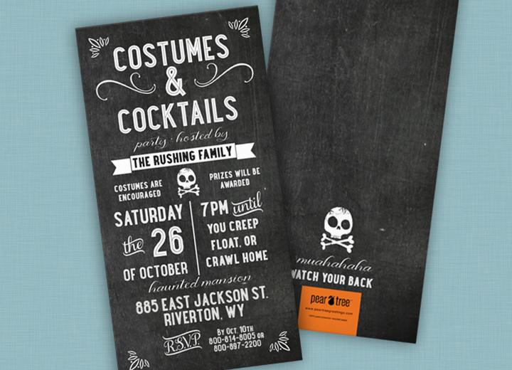 Halloween Invitations -- Chalk Art