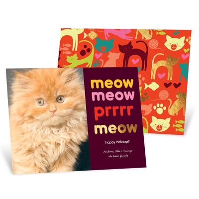 Merry Meow Photo Christmas Cards