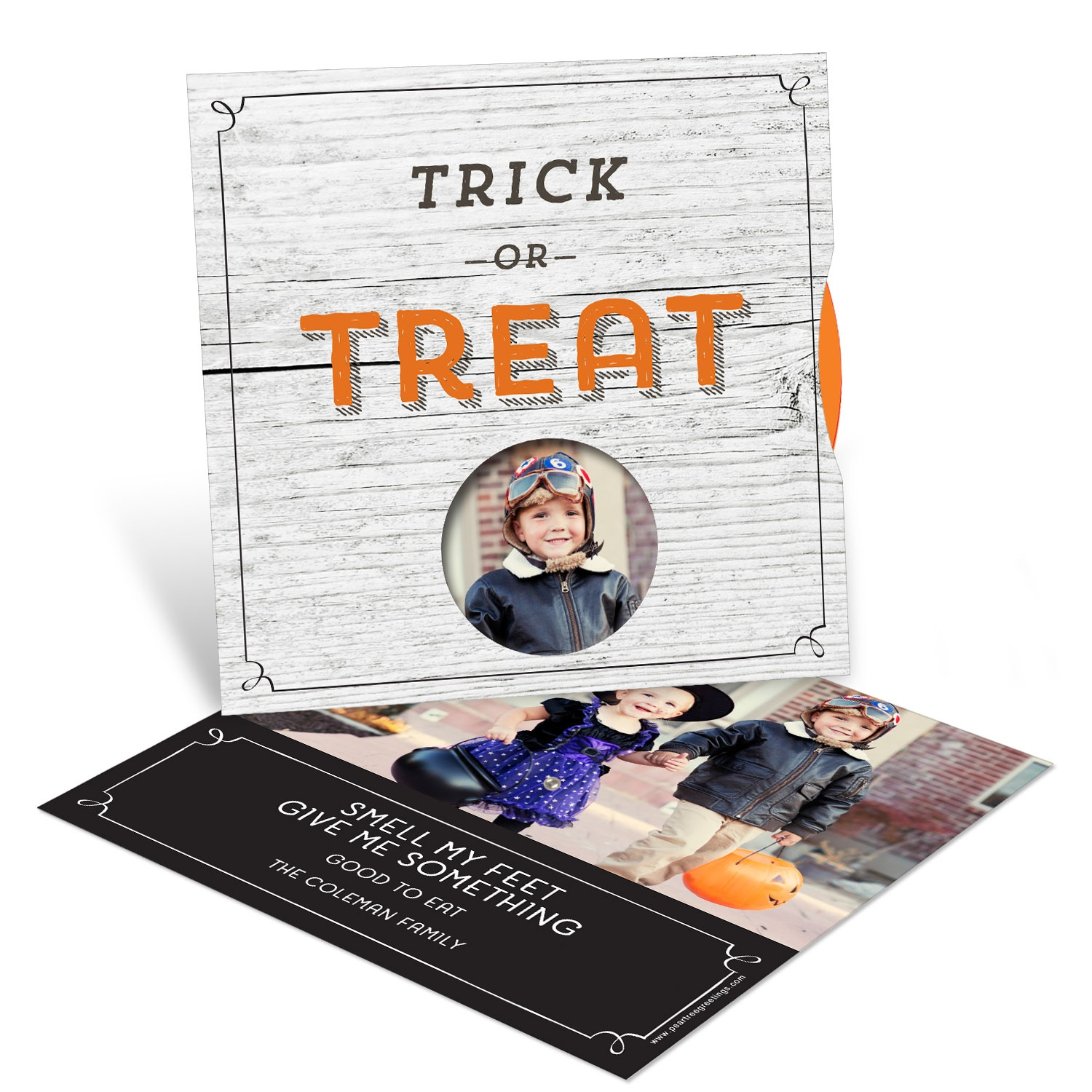 Trick Or Treat Spinner Halloween Photo Cards