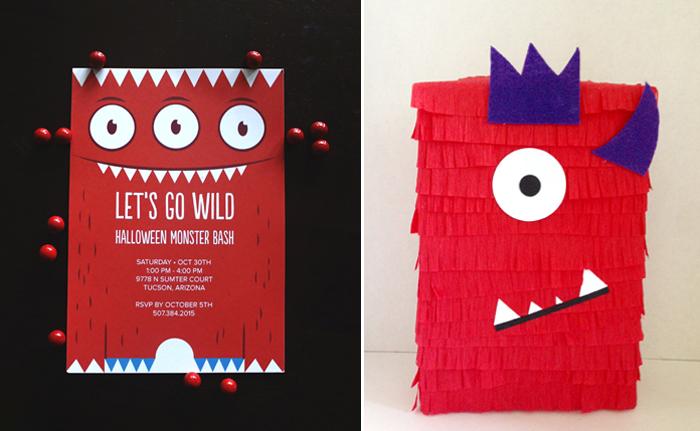 Googly Eyed Monster Halloween Invitations