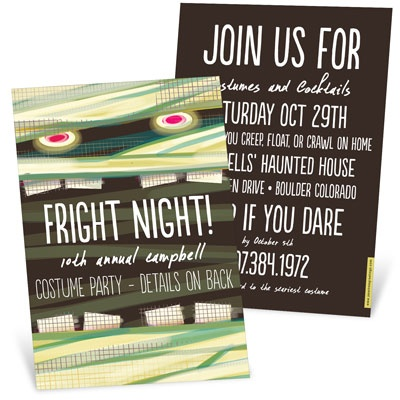 Spooky Eyes Halloween Invitations