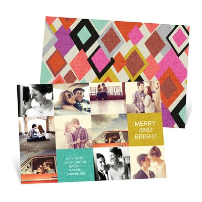 Patchwork Of Photos Photo Christmas Cards