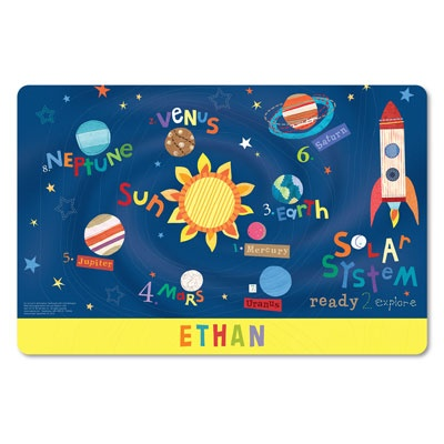 Outer Space Personalized Kids Placemats