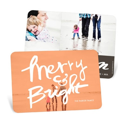 Merry & Bright Photo Screen Christmas Cards