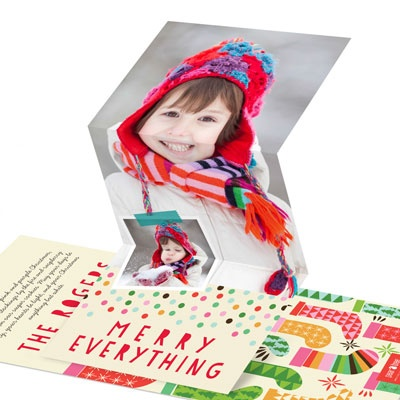 Colorful Dreams Photo Christmas Cards