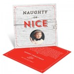 Naughty or Nice Spinner Photo Christmas Cards