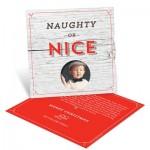 Naughty or Nice Spinner Photo Christmas Cards