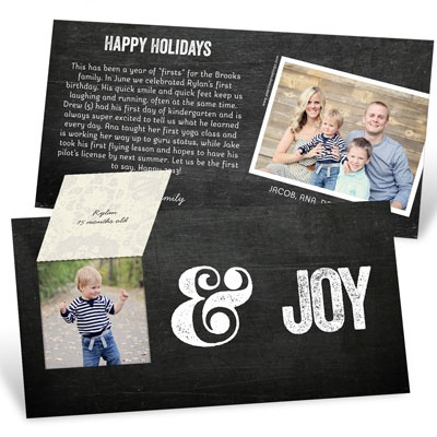 Peace, Love & Joy Pop Up Photo Christmas Cards