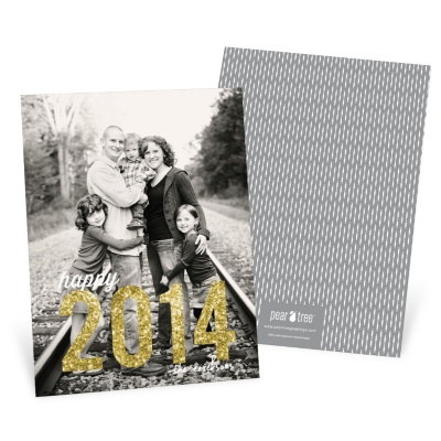 Amazing Year Vertical Photo New Year's Cards