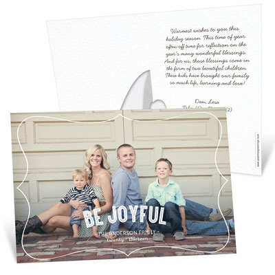 Horizontal Stand-Up Picture Frame Photo Christmas Cards