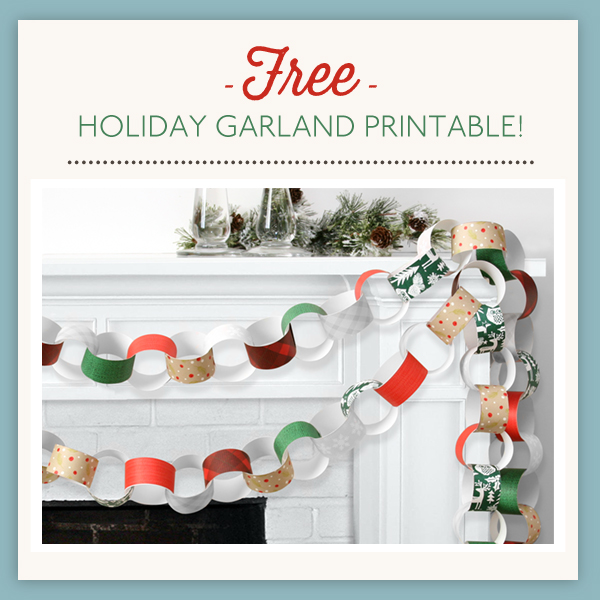 Christmas Paper Chain Printable