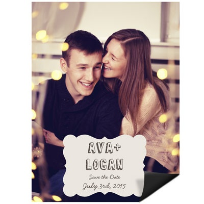 Frame Your Names Save the Date Magnets #weddingideas #peartreegreetings #savethedateideas