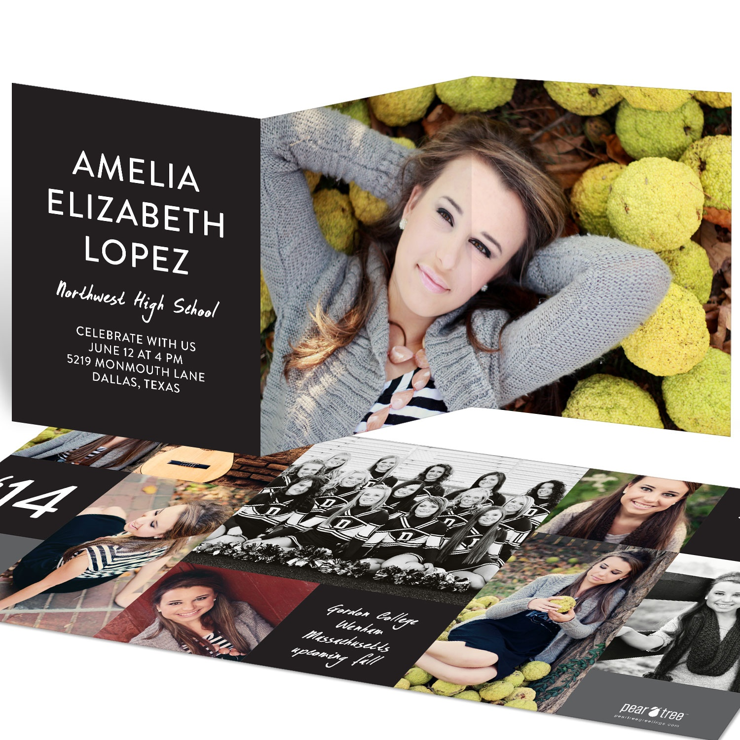 These Tri Fold Graduation Announcements Have It All With Room For Ten