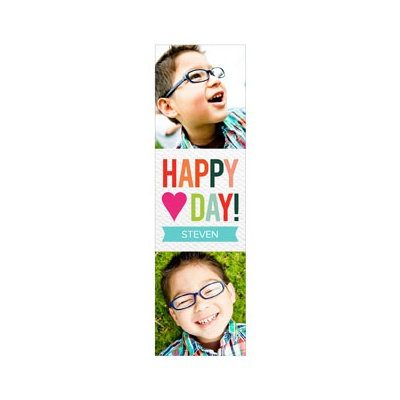 Photo Paper Multicolored Message Valentine's Day Cards For Kids