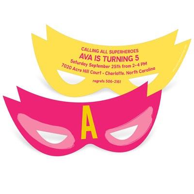 New! Mask Kids Birthday Invitations #peartreegreetings #kidsbirthdayideas #kidsbirthdaypartyideas