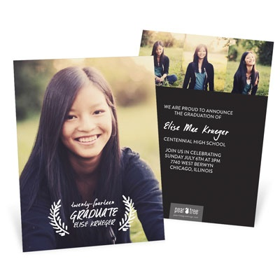 Graduation Announcement Ideas: What's Your Style? Traditional #graduation #peartreegreetings