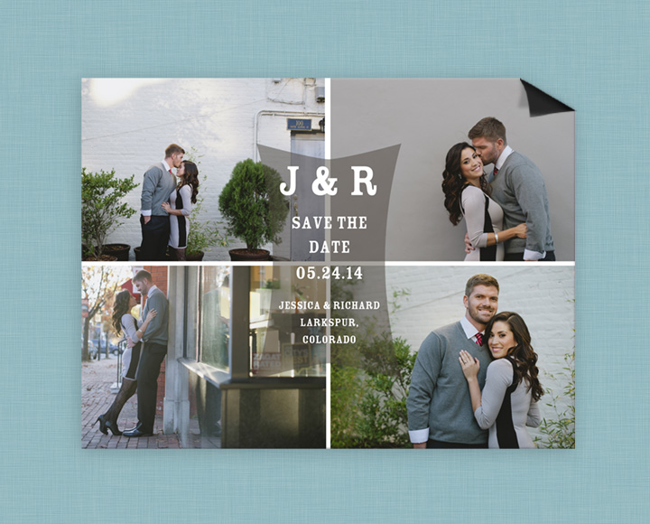 Featured Favorite from PearTreeGreetings.com - Real cards created by real people! #peartreegreetings #savethedatecardideas #savethedateideas