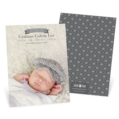 A look at the top 5 products others are buying at #PearTreeGreetings! #birthannouncements #newborn #babyannouncements