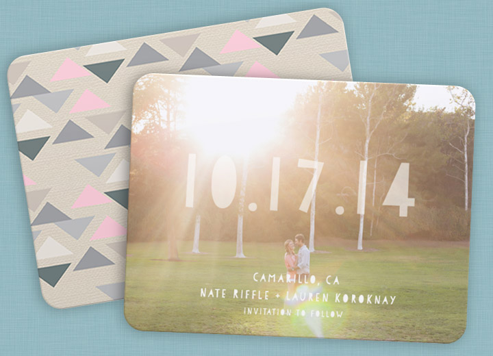 Save the Date Card Ideas - Featured Favorite #savethedatecards #peartreegreetings #weddingideas