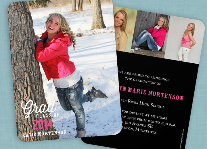 Graduation Announcement Ideas from a real graduate herself, Katie! #peartreegreetings #graduationinvitations #graduation