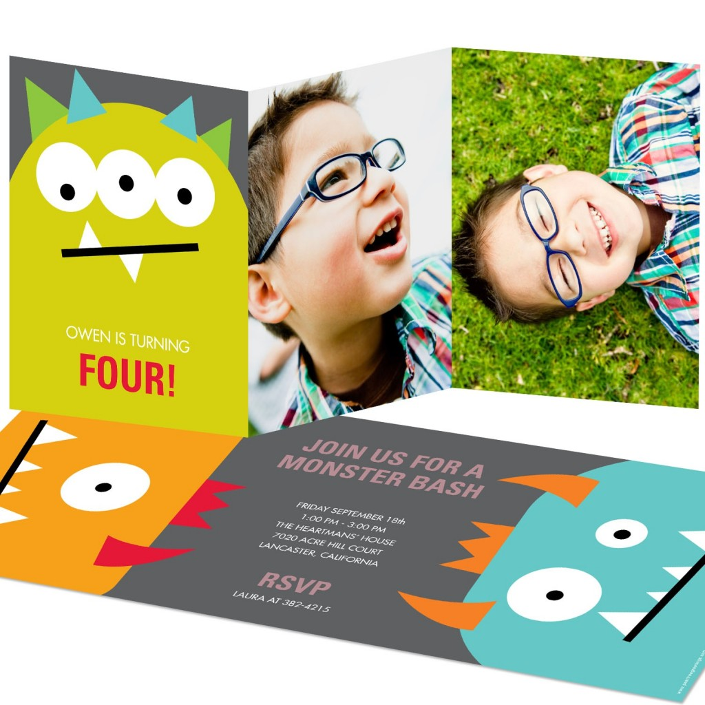 See the top pins from @peartreegreet from May! #kidsbirthdayinvitationideas #peartreegreetings #monster