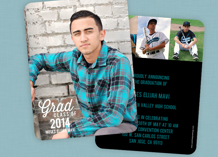 Graduation Invitation Ideas from a 2014 graduate! #peartreegreetings #graduation #realstory