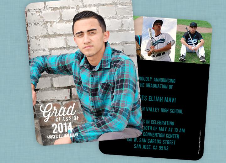 Graduation Invitation Ideas from a 2014 graduate! #peartreegreetings #graduation #realstory