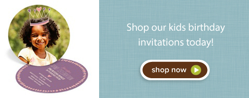 Shop kids birthday invitations today!