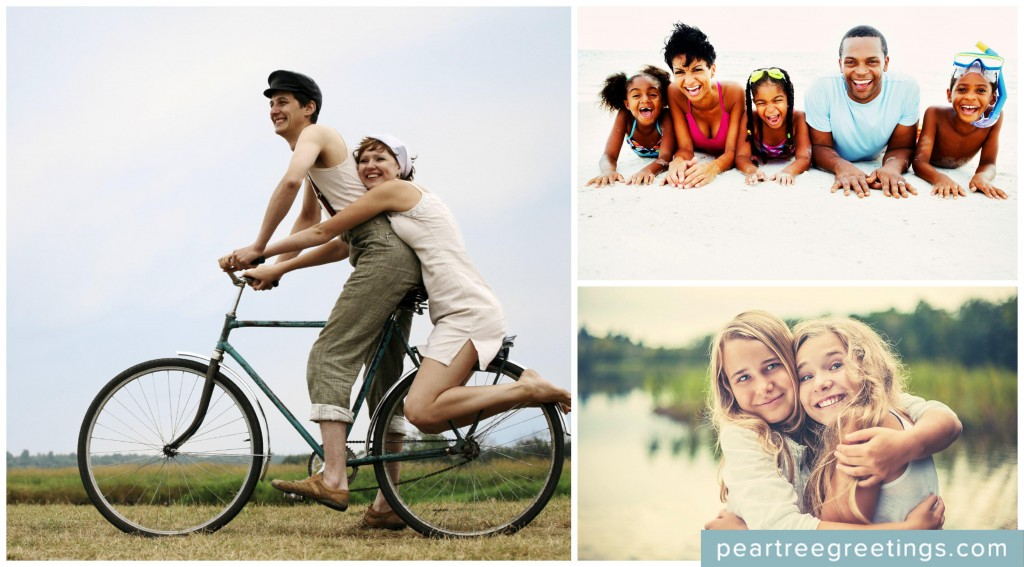 Summer photo ideas that make great photos from Christmas cards! #summer #peartreegreetings