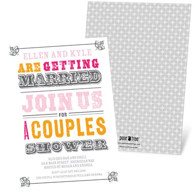 Bridal Shower Invitation Ideas: Couples shower #bridalshower #wedding #peartreegreetings