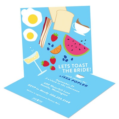 Bridal Shower Invitation Ideas: Brunch theme #bridalshower #wedding #peartreegreetings
