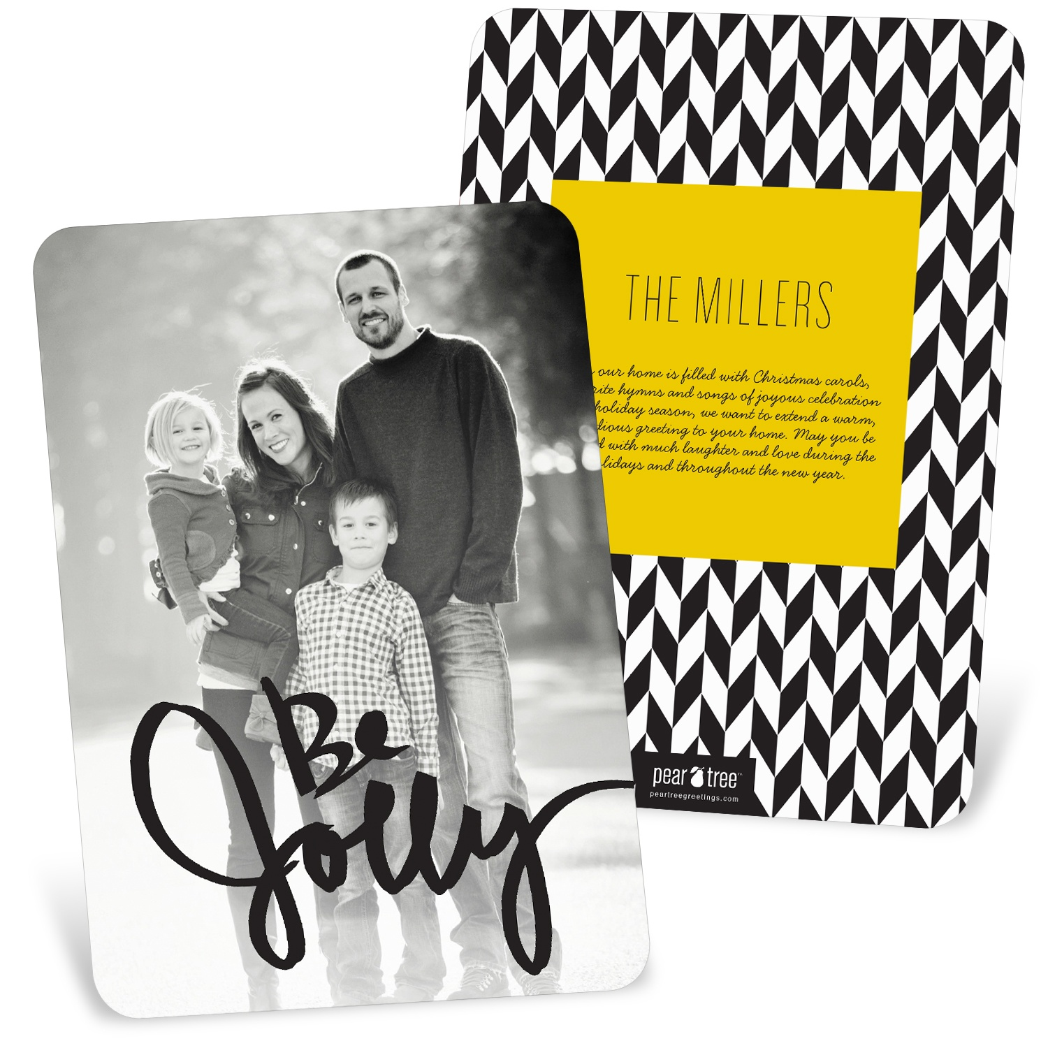 It\'s a Sneak! New Trends in Christmas Cards: Black & White | Pear ...
