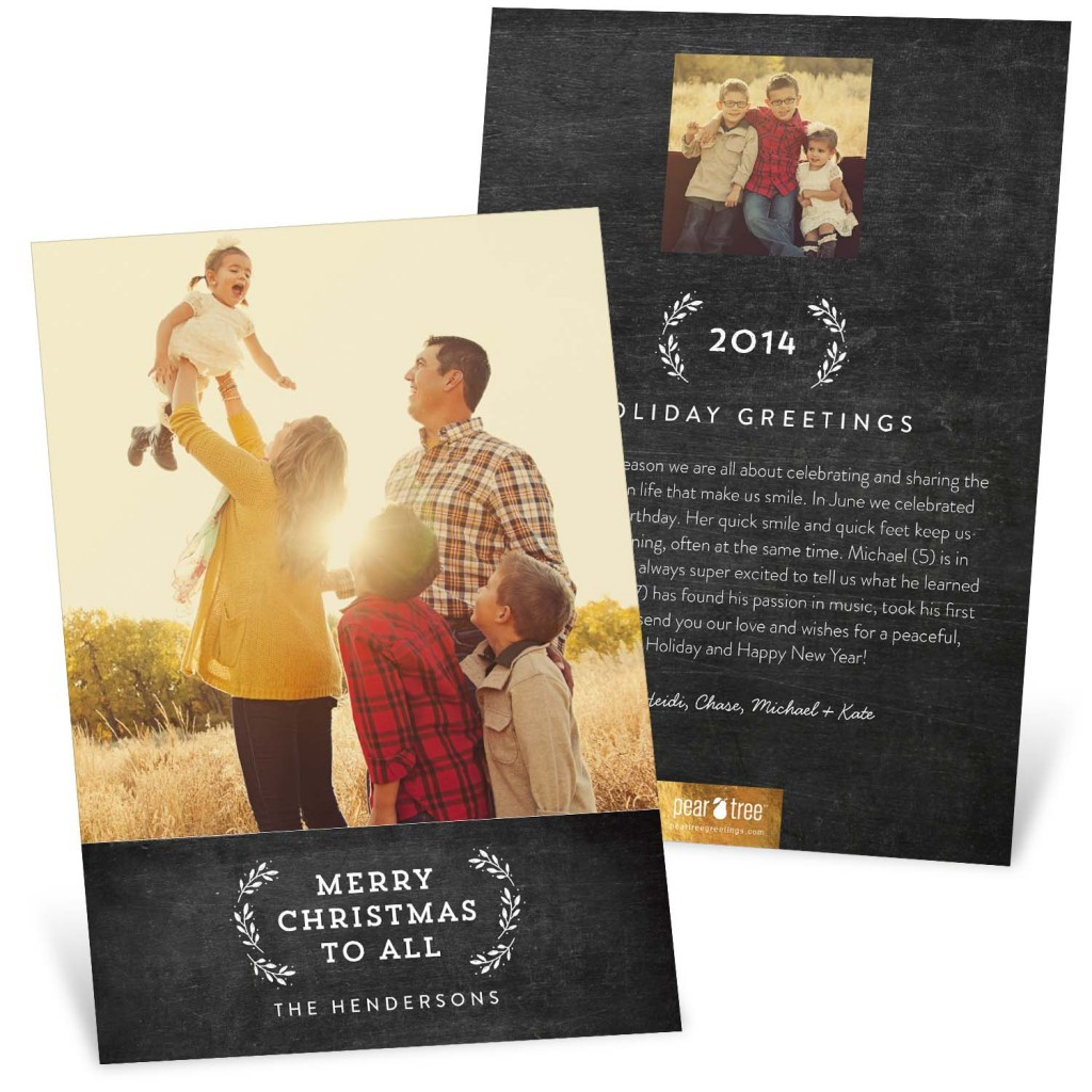 New trends in Christmas cards: Black & White #peartreegreetings #Christmascards #holidaycards
