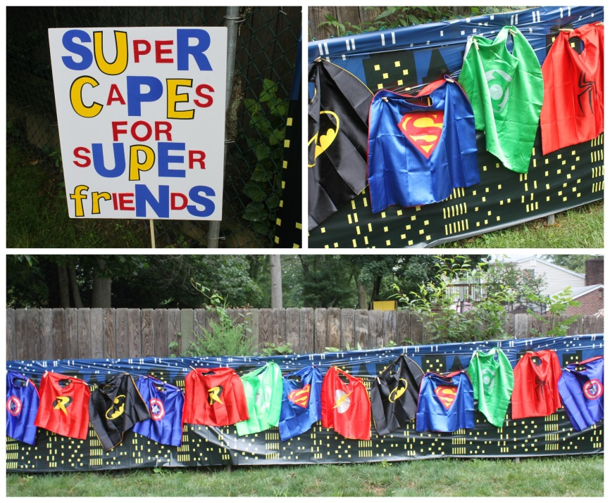 Superhero party ideas from one of our customers! See how she pulled the party together #superhero #birthday #partyideas #peartreegreetings