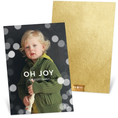 Ideas for personalizing your Christmas cards: have fun with #peartreegreetings backer options! #Christmascards #holidaycards