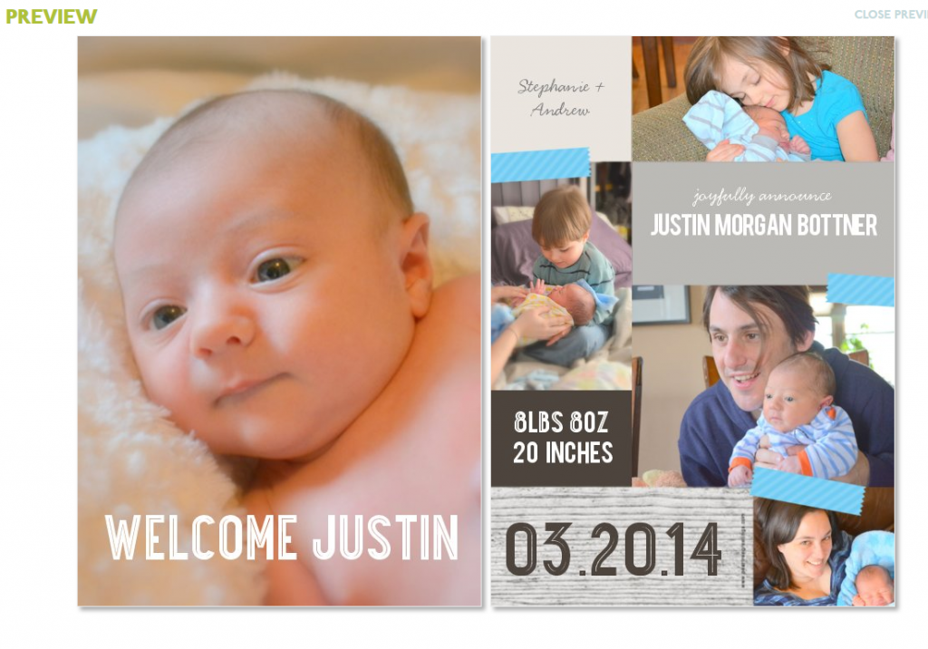 Creating your birth announcements from photo tips to birth announcement designs #peartreegreetings