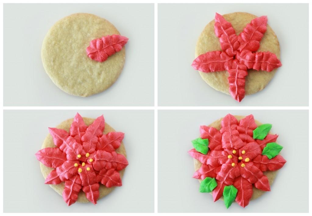 Poinsettia Christmas Cookies