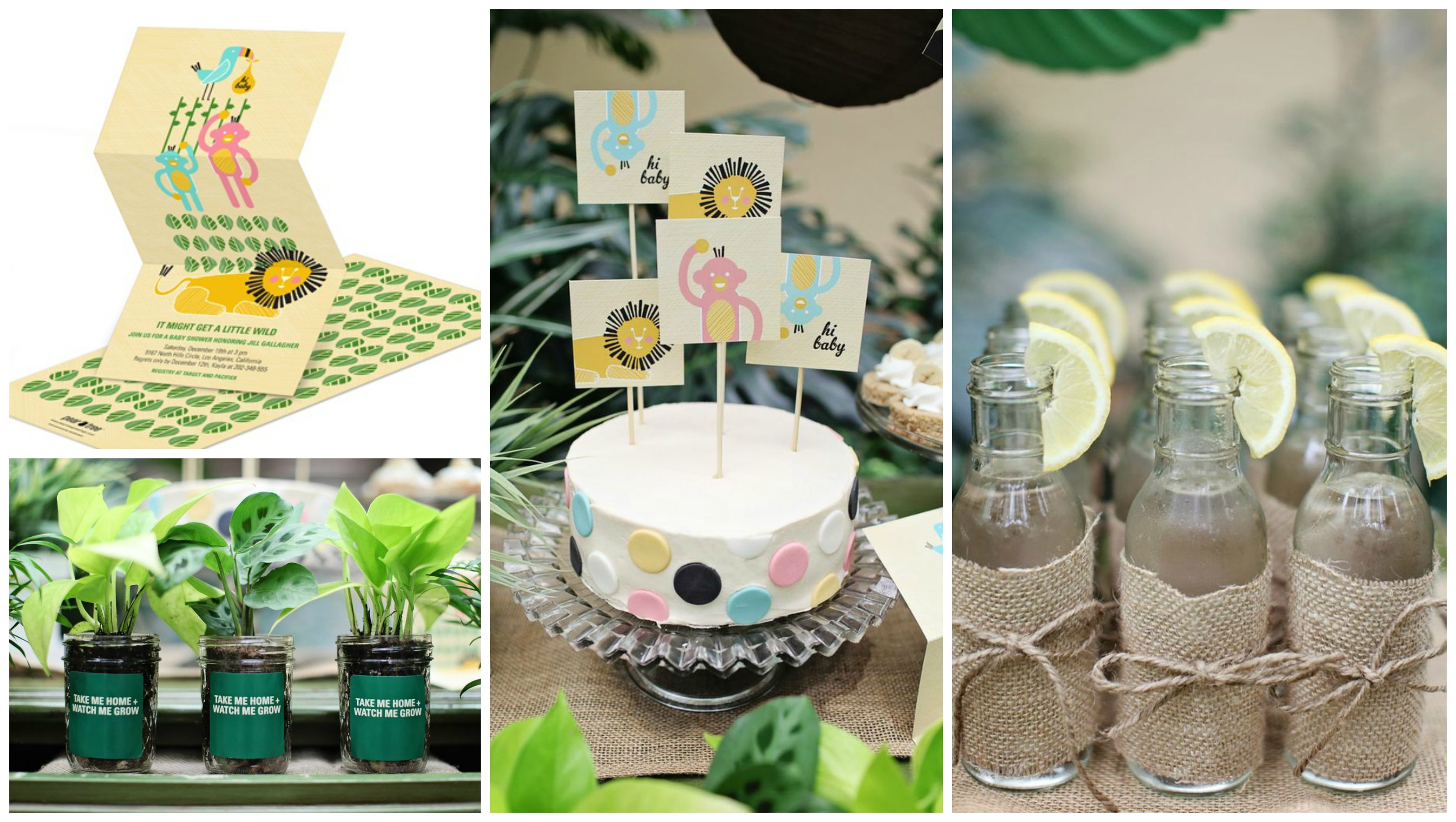 Top 3 baby shower ideas pear tree blog for Baby shower safari decoration