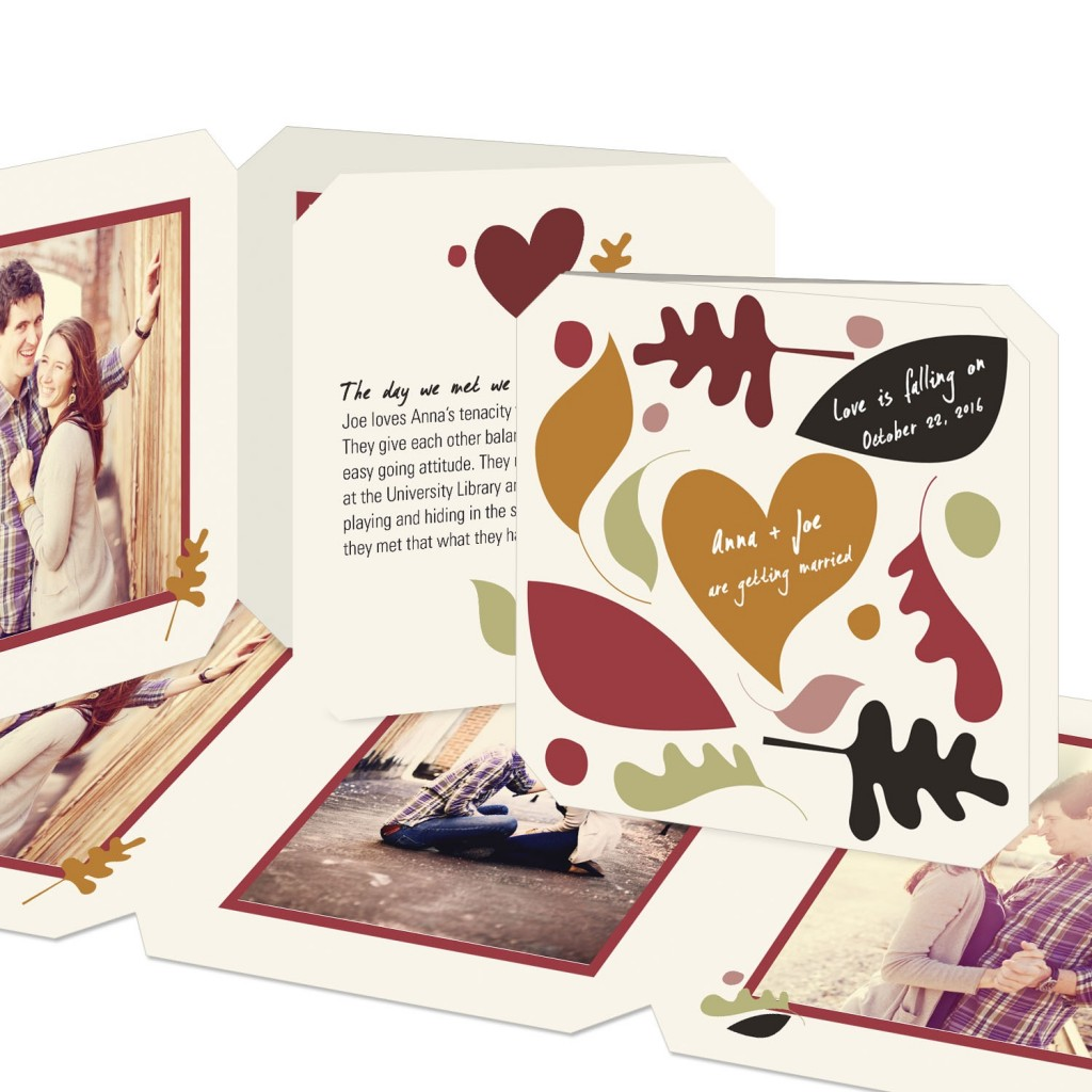 Save the Date Ideas: Autumn Nuptials Save the Date Cards