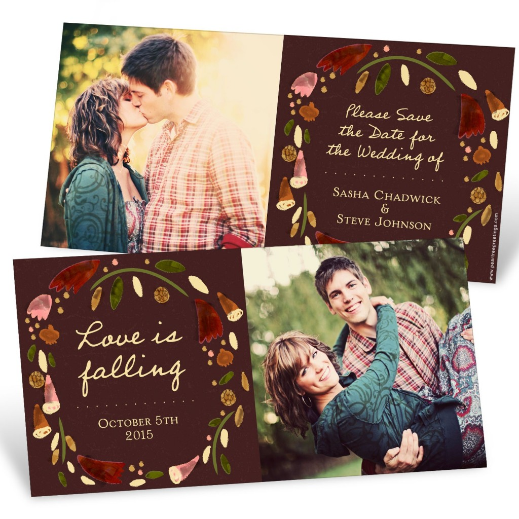 Save the Date Ideas: Fall Wreath Save the Date Cards