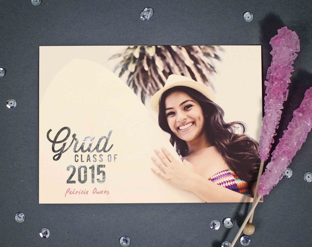 Favorite-Photo-Silver-Foil-Graduation-Announcements