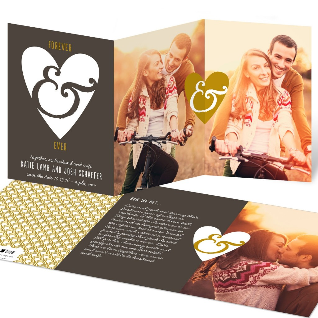Save the Date Ideas: Forever & Ever Tri Fold Save the Date Cards