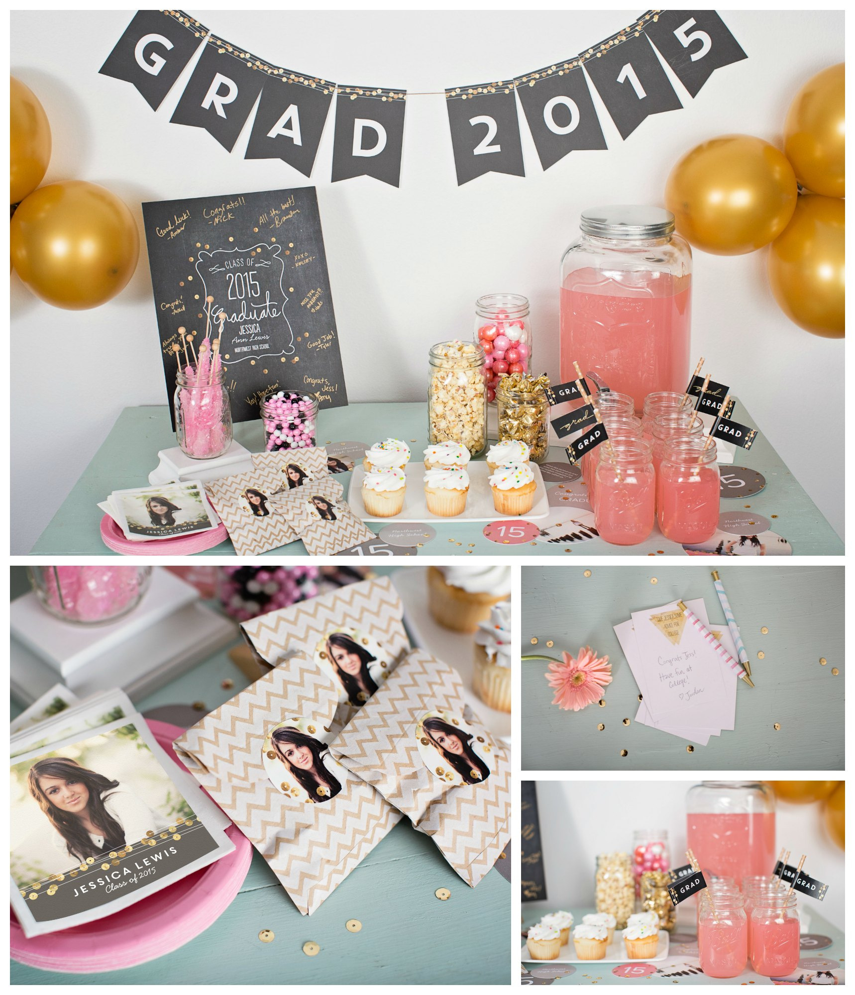 sequin inspired graduation party ideas pear tree blog