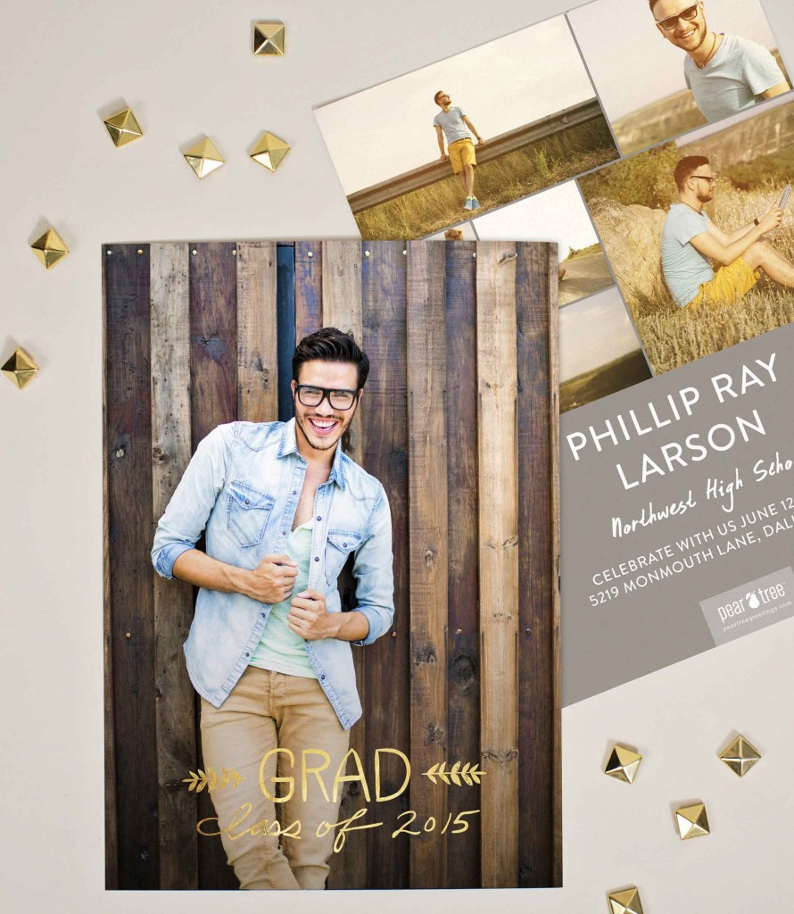 Hand-Lettered-Vertical-Gold-Foil-Graduation-Announcements