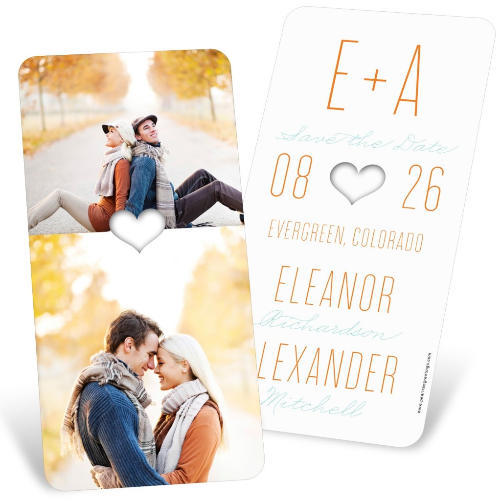 Save the Date Ideas: Lucky in Love Save the Date Cards