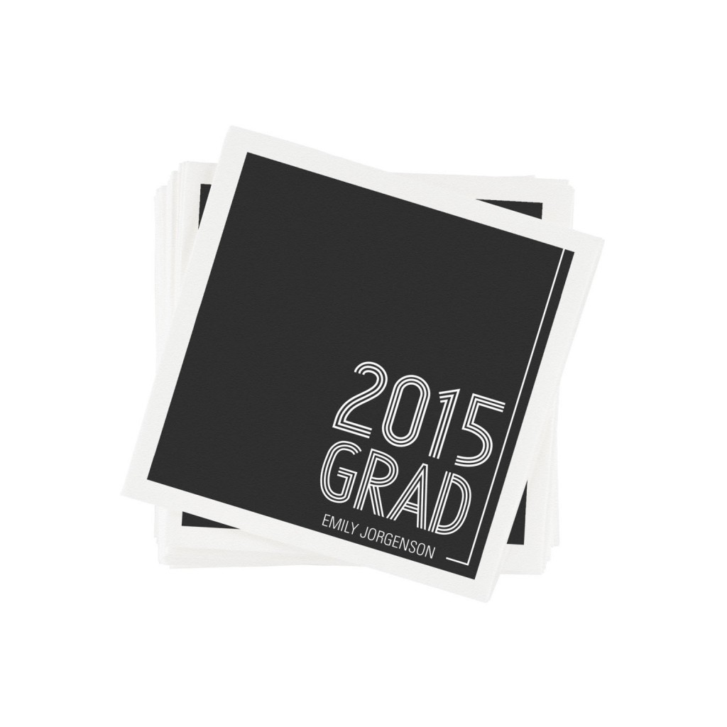 Striped Success Graduation Napkins