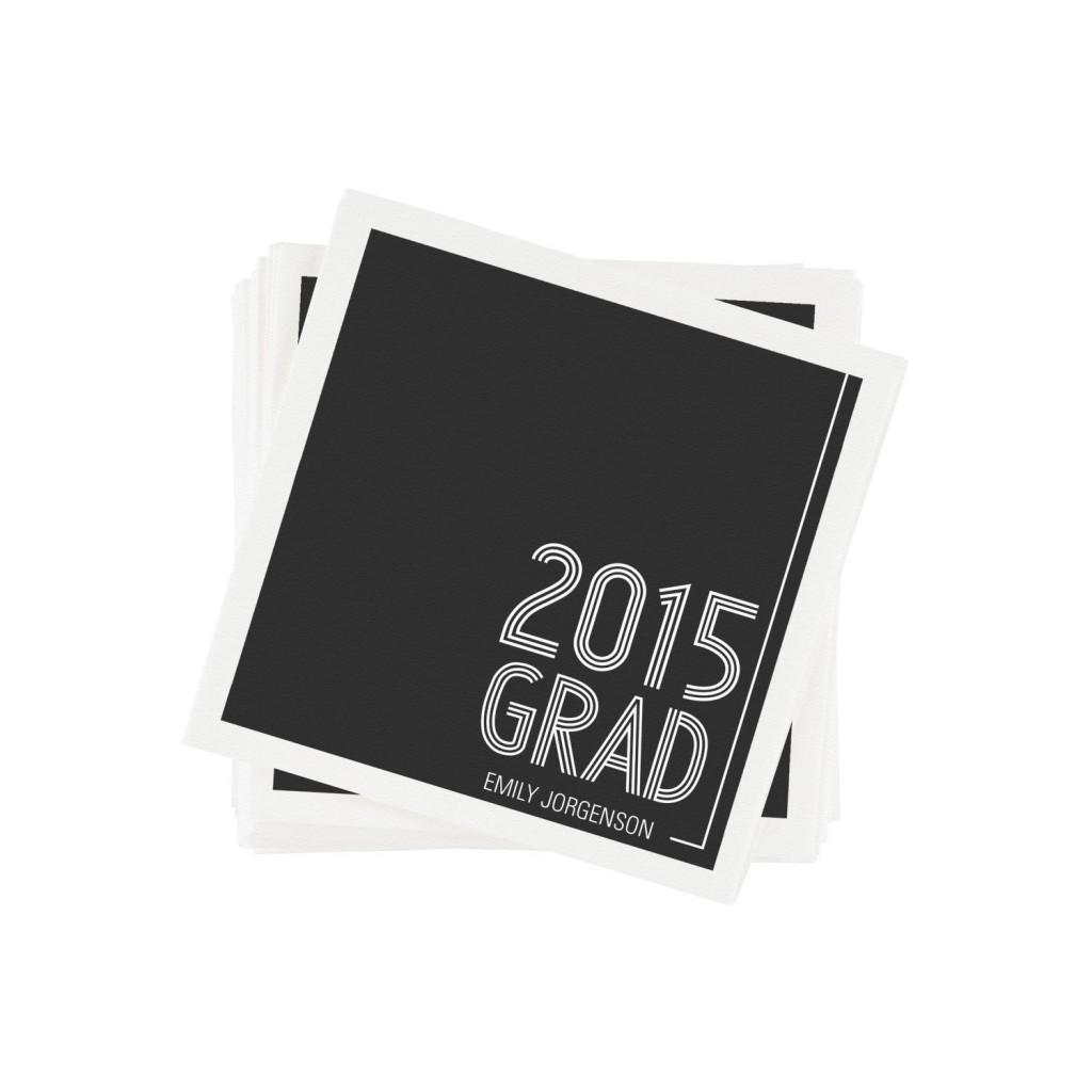 Striped Success Graduation Napkins